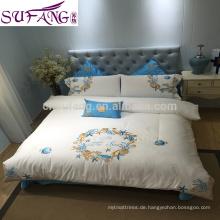 Proben vorhanden vier Saison Jacquard Luxus glänzend Bettwäsche Set italienischen Schlafzimmer Luxus