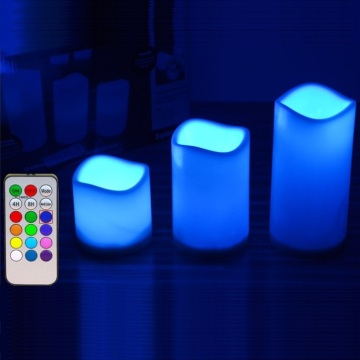 Magic Remote Control LED Lilin dengan Button