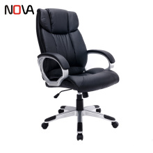 top new style executive Tilting Swivel Office black leather middle back boss racing Computer Chair