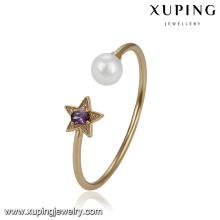 51754 Xuping luxury Jewelry ,Pentagram elegant pearl bangle for women