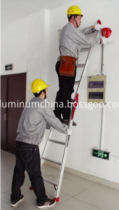 Straight ladder use