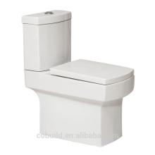 Couleur blanche Carré Toilette Deux pièces weatern Washdown WC en céramique