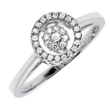 Anel de prata esterlina 925 com conjunto micro jóia de diamante de dança