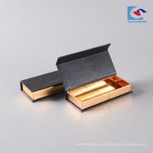 Caixa de empacotamento do logotipo feito sob encomenda magnético da exposição de livro do chicote feito sob encomenda do olho do vison