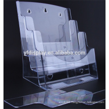 Clear Acrylic File Shelf for Office Supplies