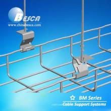 Bandejas de cable galvanizadas electrolíticas del tipo de la malla con el gancho (CE, UL, cUL, RoHS certificado)