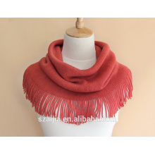 Fashion new design solid warm ladies infinity scarf