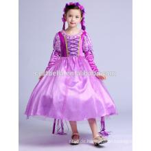Kinder Frocken Designs Party Mädchen Geburtstag Kleider Lila Weihnachten Party Little Girl
