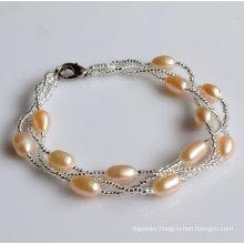 Fashion Freshwater Pearl Bracelet Jewelry Wholesale (EB1534-2)