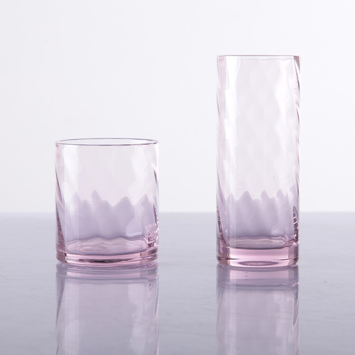 Soplado a mano HB Pink Water Glass Pink Beber Glasses