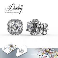 Destiny Jewellery Crystals From Swarovski Flower Earrings