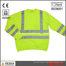 Mens Yellow Long Sleeve Knitted Wear Hi Vis Sweatshirt Safety Sweater