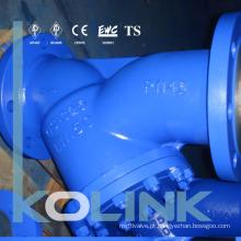 Aço fundido Y Extremidade da flange do filtro