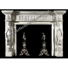 Mantel de mármore da chaminé para a decoração Home (QY-LS378)