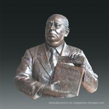 Estatua grande director de cine Alfred Hitchcock Escultura de bronce Tpls-079
