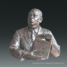 Large Figure Statue Film Director Alfred Hitchcock Bronze Sculpture Tpls-079