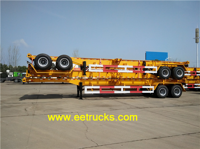 2 axle container carry flatbed trucks