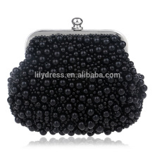 2016 Women's Evening Dinner Clutch Bag Bride Bag For Wedding Evening Party Bridal HandBags B00100 Black Beads Handbags