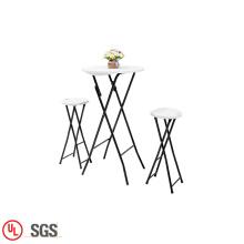 Mesa de centro de diseño plegable portátil y silla de interior