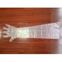 Guantes de mangas largas de plástico PE desechables veterinarios