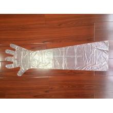 Gants vétérinaires jetables en plastique à manches longues en PE