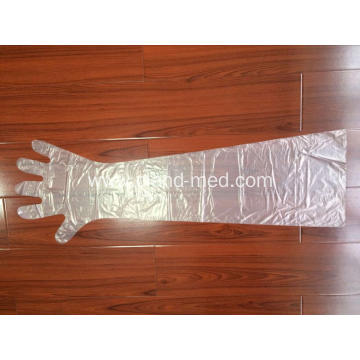 Veterinary  Disposable  Plastic  PE Long Sleeve Gloves