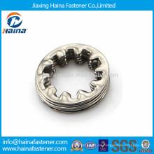DIN6797 Una arandela dentada de acero inoxidable, arandela de dientes internos
