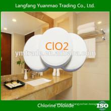 Tableta efervescente de dióxido de cloro usada para hospitales y farmacias