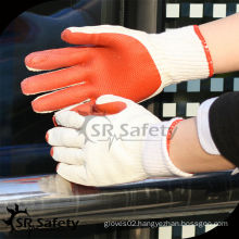 SRSAFETY cheap price/10g knitted latex coated work gloves/latex glove/working gloves