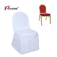 La chaise de banquet imperméable blanche supérieure couvre la couverture de meubles pour la restauration d'événement de noce