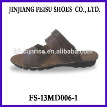 Sandalias planas de cuero baratas de cuero de las sandalias del cuero de la sandalia de los hombres del verano