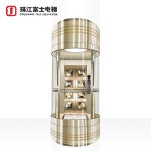 ZhuJiangFuji Brand Panoramic Sightseeing External Commercial Vertical Passenger Elevator