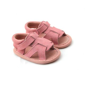 Подлинная кожа Pink Baby Girls Shoes Sanduals