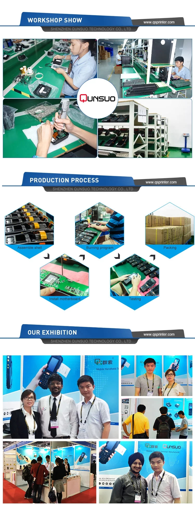Production line and exhibition