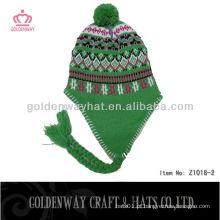 Chapéu adulto Earflap Hat Crochet Padrão chapéus de tricô de inverno