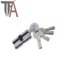 Cilindro de cerradura de latón abierto de dos lados