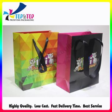 Shenzhen bolso de compras por encargo plegable del papel impreso de encargo
