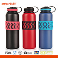 Colorful Sleeve Double Wall Vaccum 32oz Stainless Steel Water Bottle