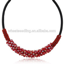 2014 Achetez Fashion And Luxury Red Short Crystal Necklace