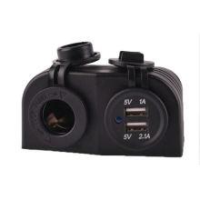 12V Boat/Car Cigarette Lighter Socket/Dual USB Charger/Power/Adapter Outlet/Port