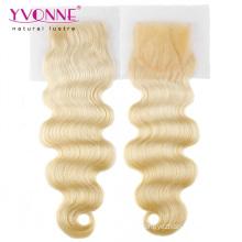 Блондинка Бразильский Объемная Волна Закрытие Волос