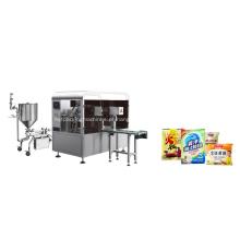 Máquina de embalagem giratória de 8 estações para pasta