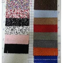 Tejido de glitter de la tela de los granos para la decoración