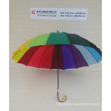 "27"" X 16k, Automatic Stick Rainbow Umbrella (YS-S16001R)"