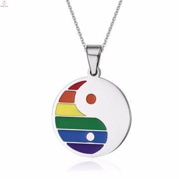 Online Religious Beautiful Items Gay Pride Stainless Steel Pendants