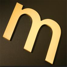 Letras de latão personalizado exterior sinais