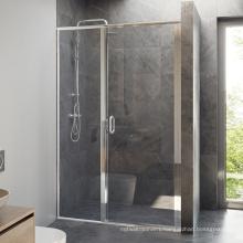 Hardware Lifetime Warranty Bathroom 2 panel Glass pivot swing Shower Doors