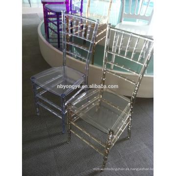 Transparente cristal claro plexi silla de fiesta