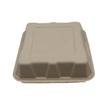 Eco-friendly Compostable Bagasse Packing Food Container Hamburger Box