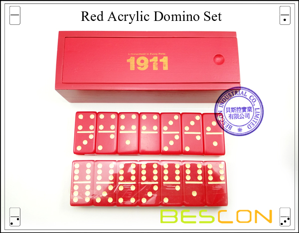 Red Acrylic Domino Set